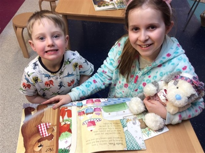 Pyjama party for World Book Day!